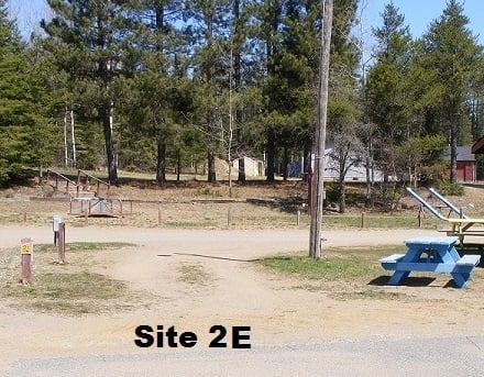 Site 2E - 30 Amp - EW - Pull thru - No sewer at site.