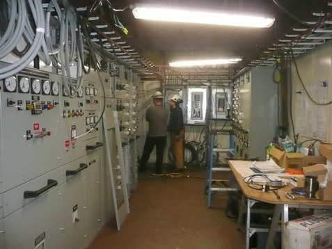 Engineering control room wiring