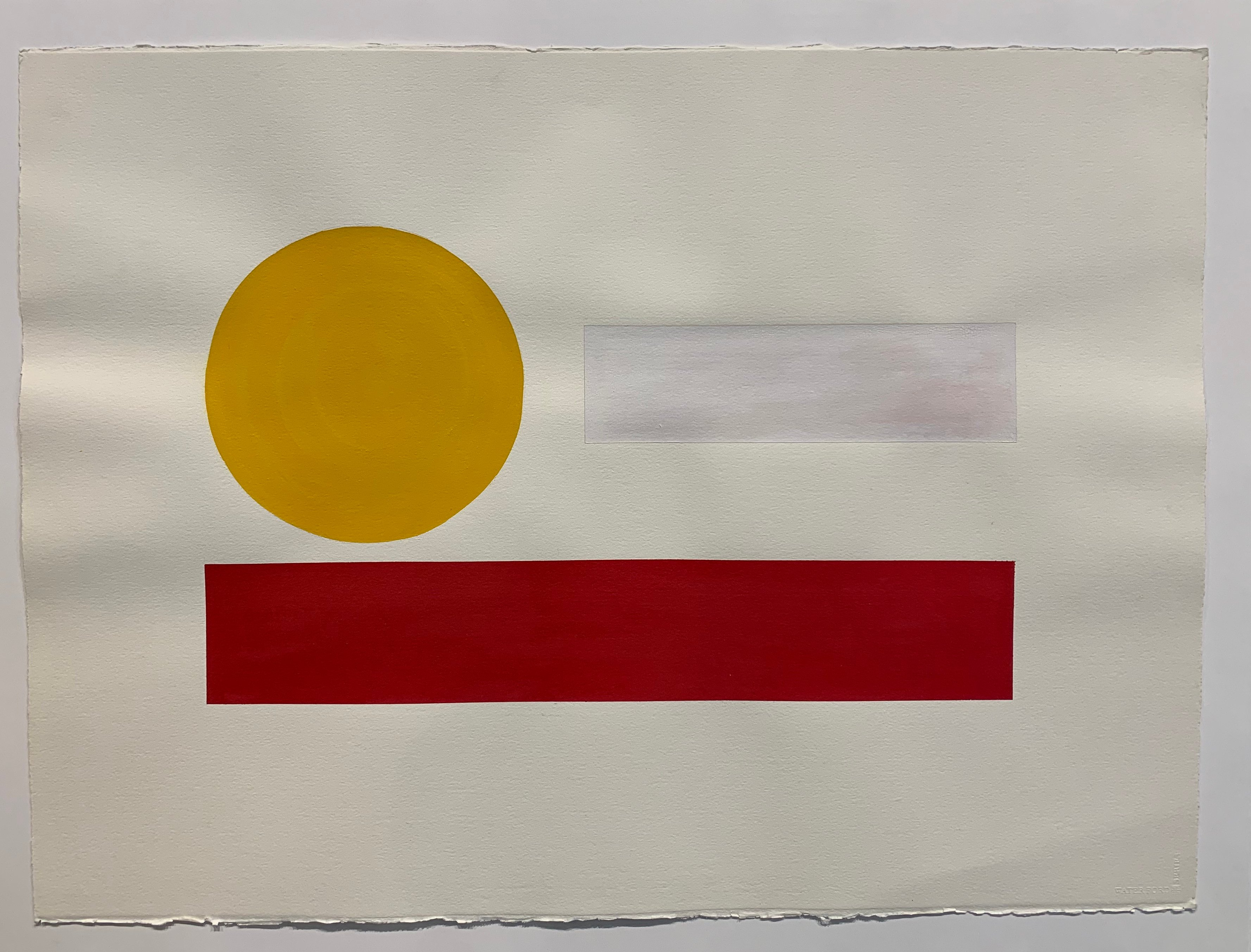 """Mike Hansen, Built for Dirvers, 1995, acrylic on paper 22""""x30"""" Value $1375"""