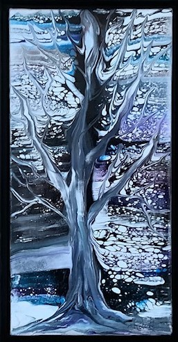 Magical 7.5 x 13.5 framed $195.00