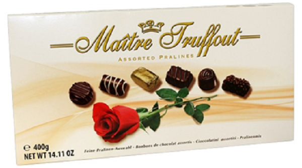MT400RS Maitre Truffout assorted rose pralines..400 gr