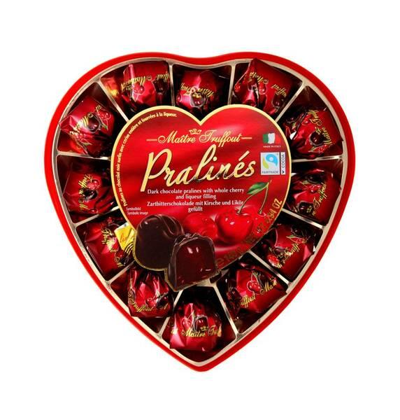 MT165HRT Maitre Truffout Heart Pralines box 165 gr