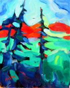 northern landscape original abstract painting fine art