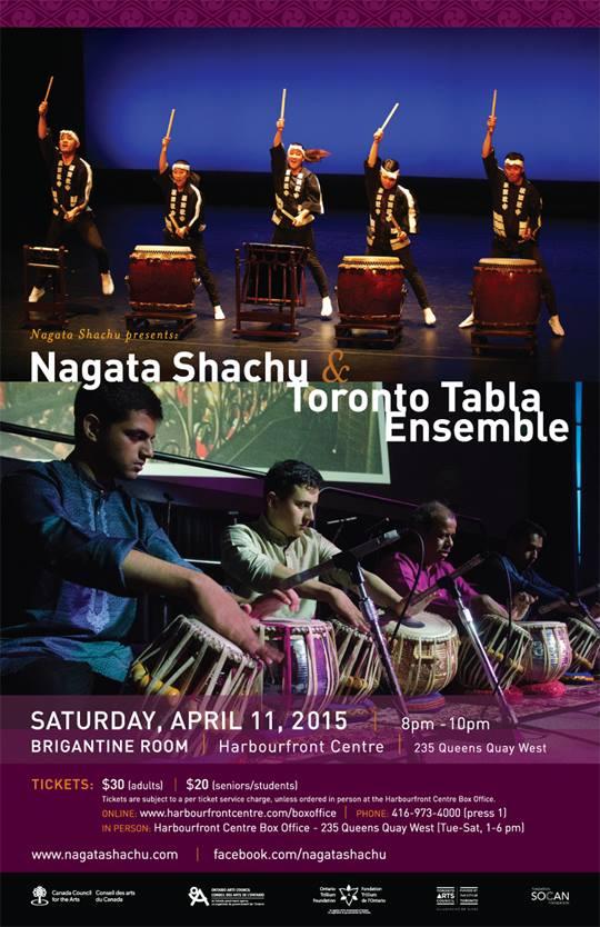 Nagata Shachu and  Toronto Tabla Ensemble