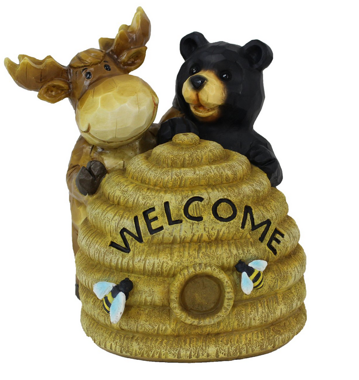 508 QYS220 Solar LED Bear/Moose on beehive Reg. Price $52.99 Blowout Price $37.99