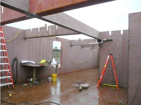 This is the engineering deck.  The card deck sits above, but here it was still open to the rain and snow making for a difficult work environment.  The sooner the car deck went on, the easier it was to complete the interior welding.
