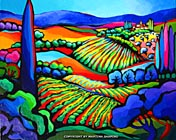 Vineyard Expression original abstract painting artist Martina Shapiro