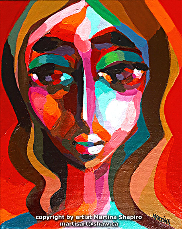 Woman In Reflection original painting by artist Martina Shapiro