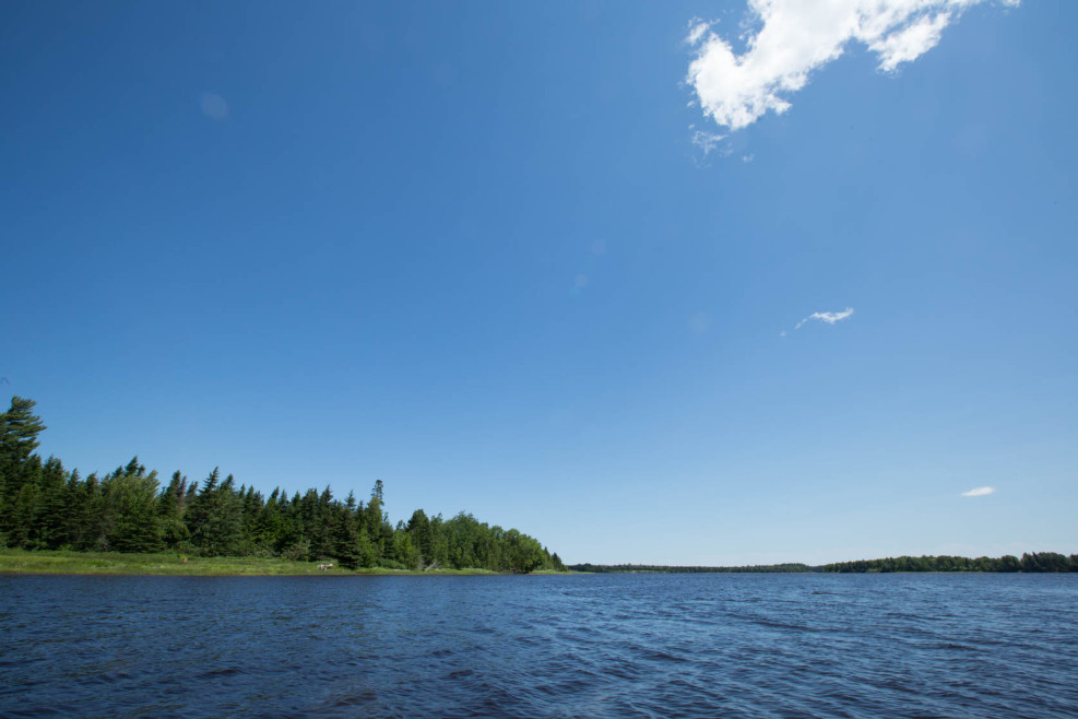 A view of Lot 14-13 from the Richibucto River
