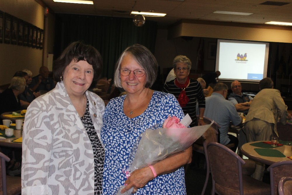 Mrs. Linda Ethell with Linda Wright. 26 May 2018