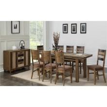 Ensemble table et 4 chaises Table 36 x 76 x 94 Couleur charcoal