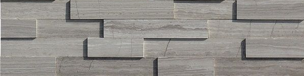Grey Wood Vein Honed Ledgestone