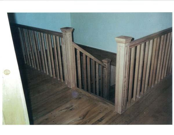 Straight ash stairs