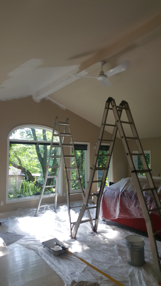 Painting a ceiling can be quite tricky