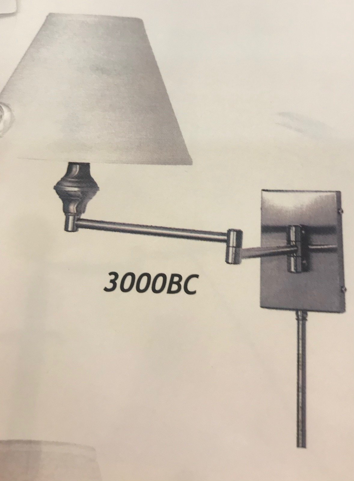 3000 Swing Arm Wall Light Made in Canada Available in Antique Brass,  Brushed Chrome or Black Regular Price $177.99 Sale Price $124.99