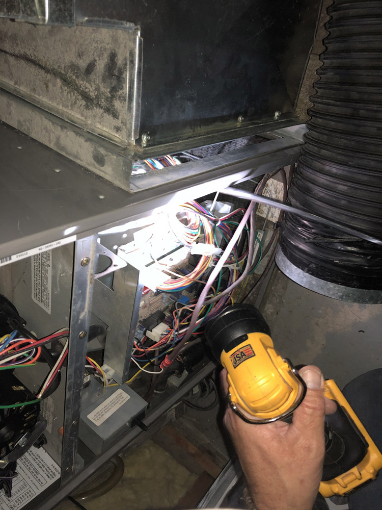 Extracting all debris inside your furnace.