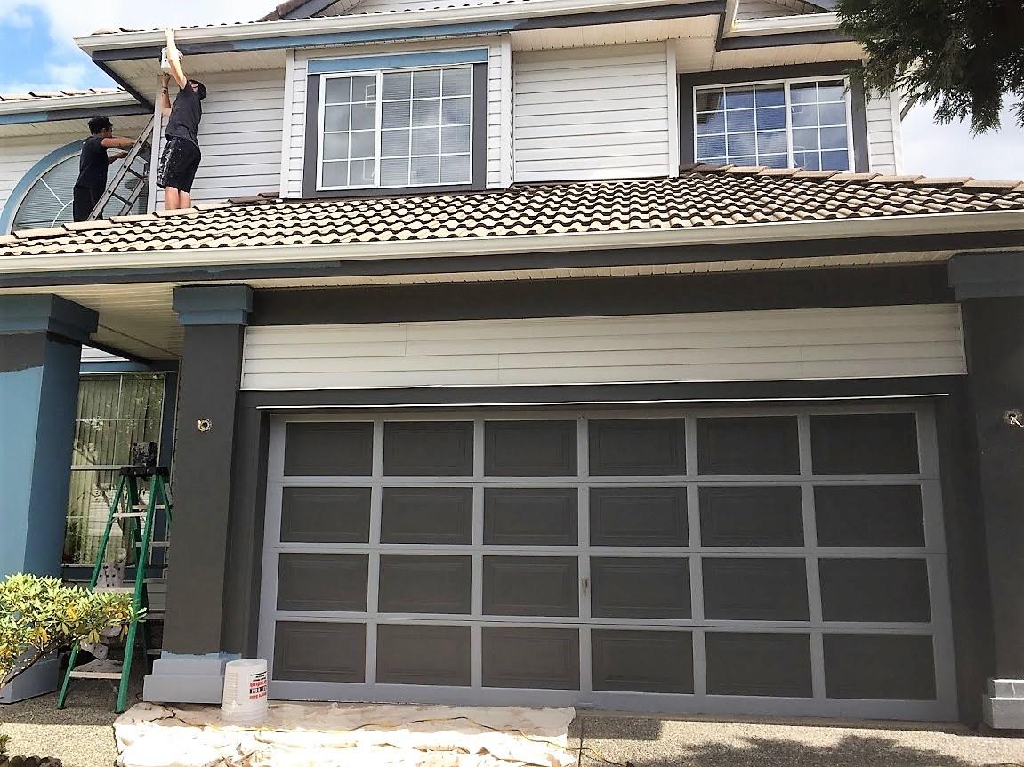 after garage door painted