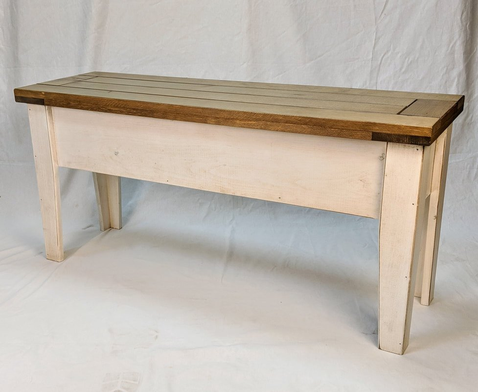 Vintage White with Classic Stain Clear Coat top