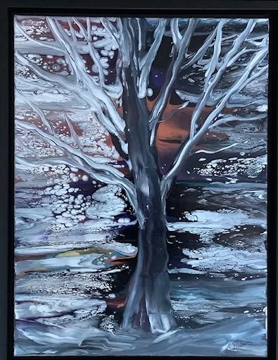 Nature's  Chorus 13.5 x 17.5 framed $325.00