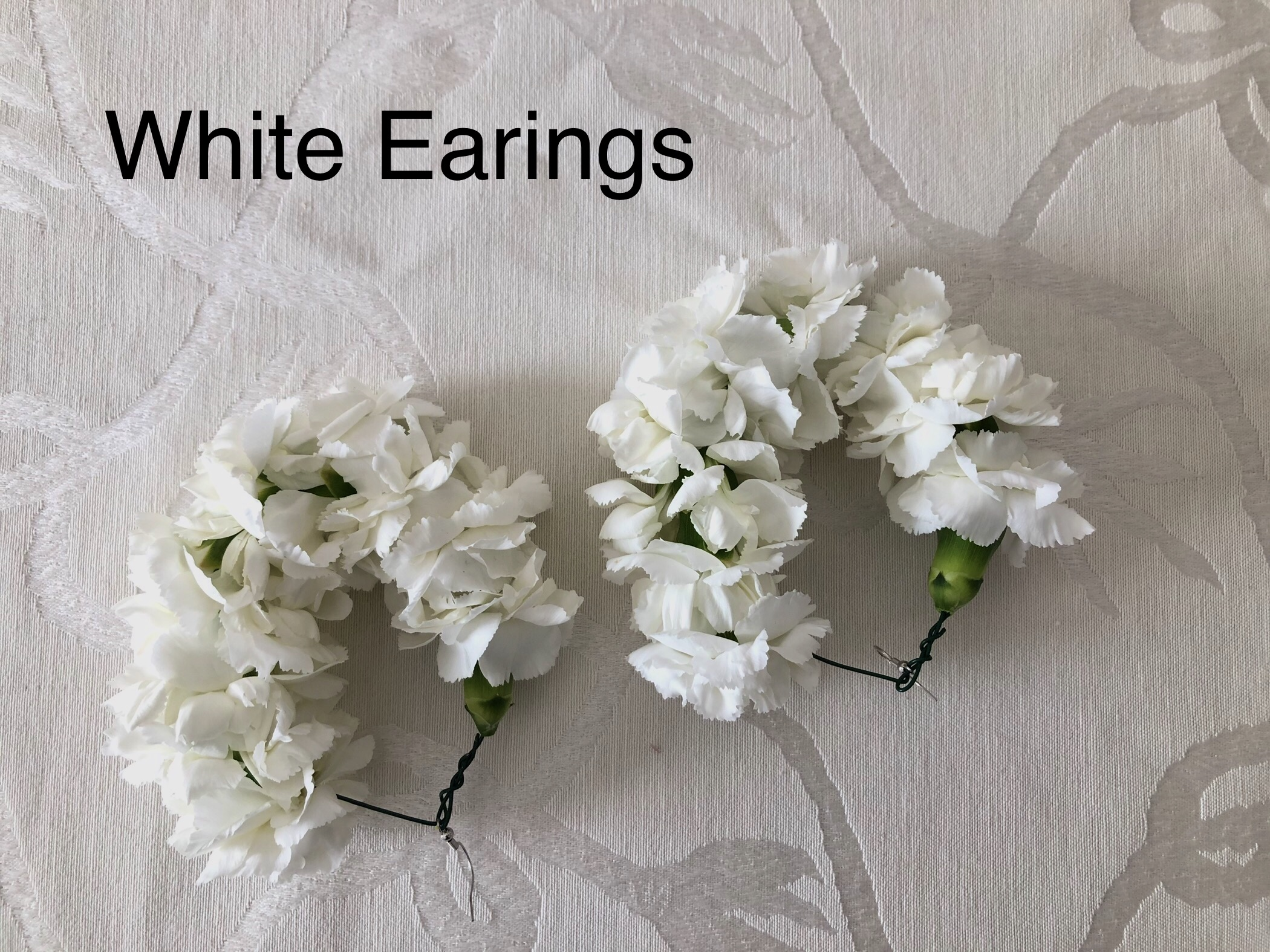 White Earings