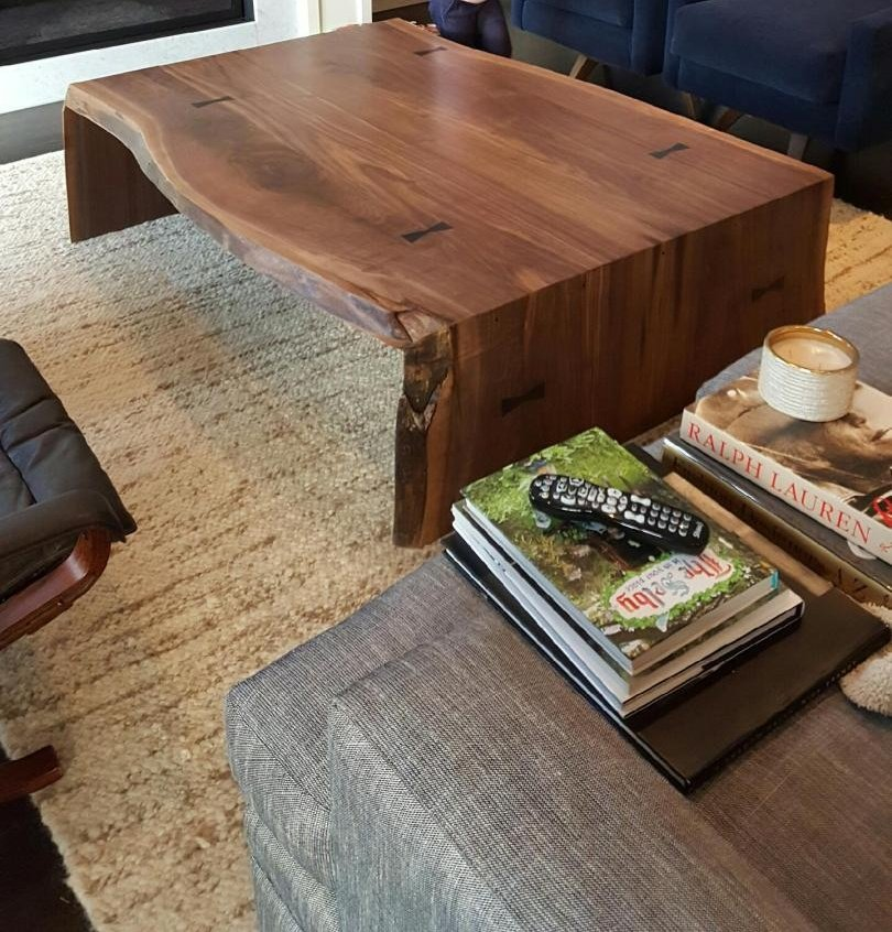 Live-Edge Walnut Coffee Table
