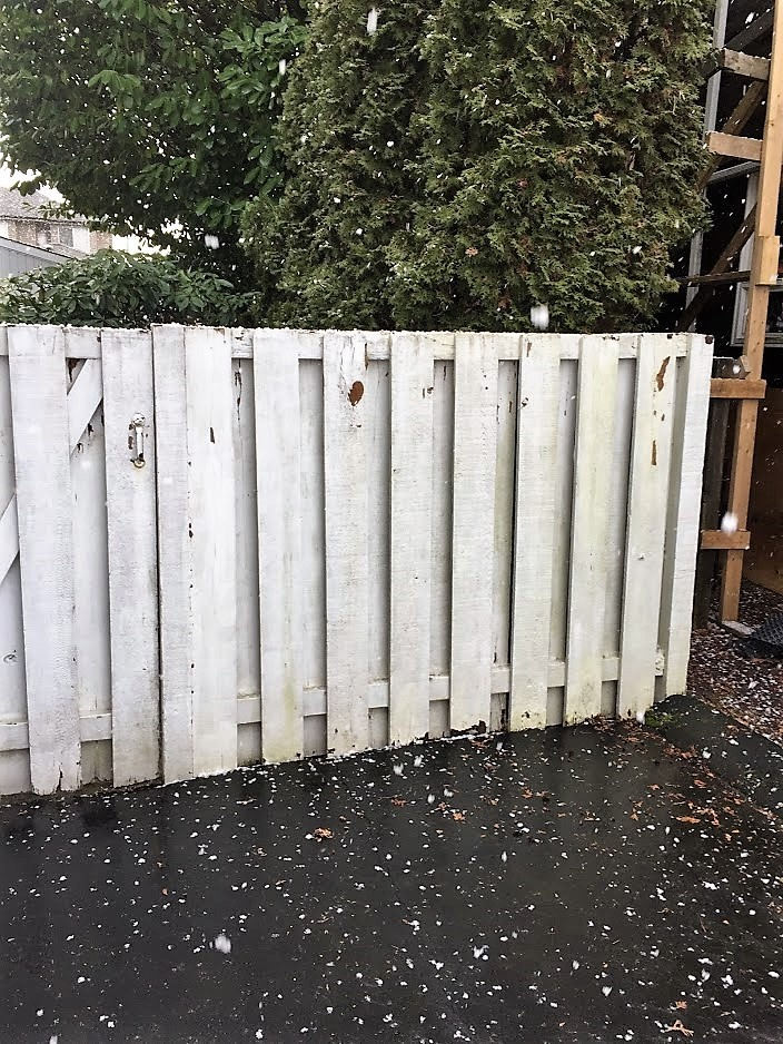 before photo of fence
