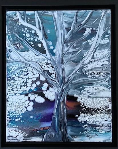 Tree Angel 9.5 x 11.5 framed $200.00