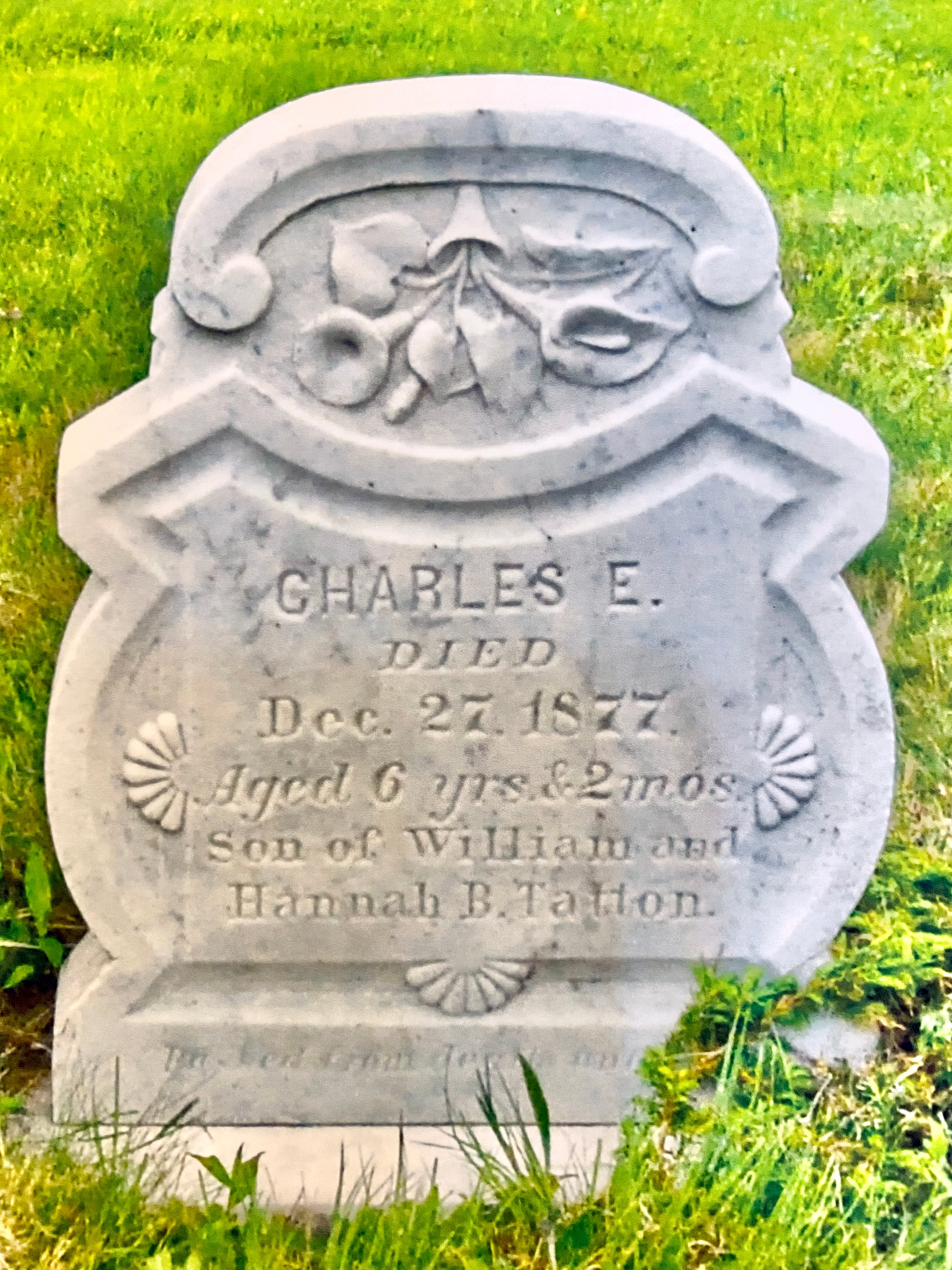 Tombstone of Charles Tatton, 1877