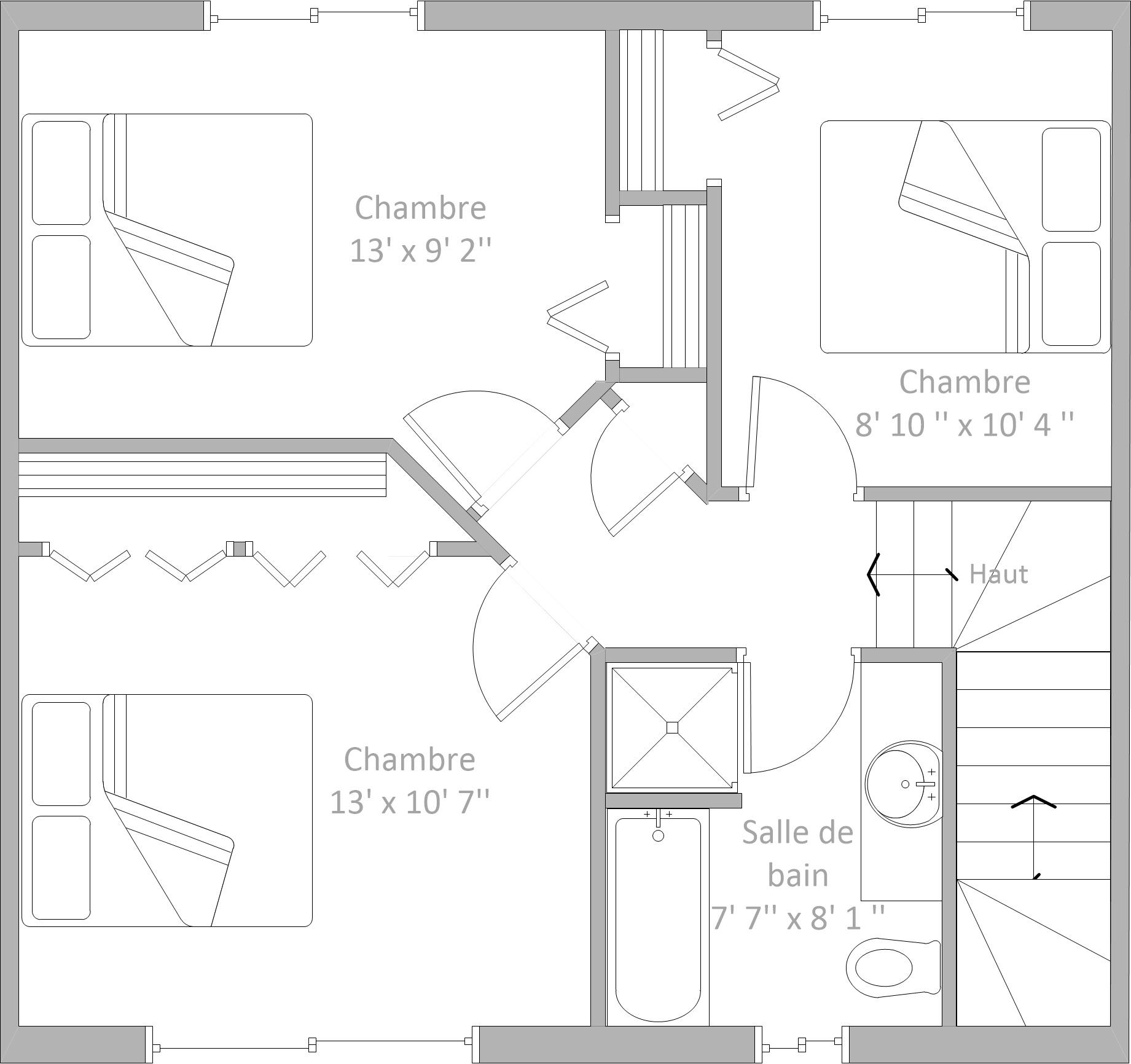 Plan de l'étage proposé