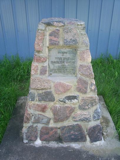 Memorial plaque in front of the Legion.