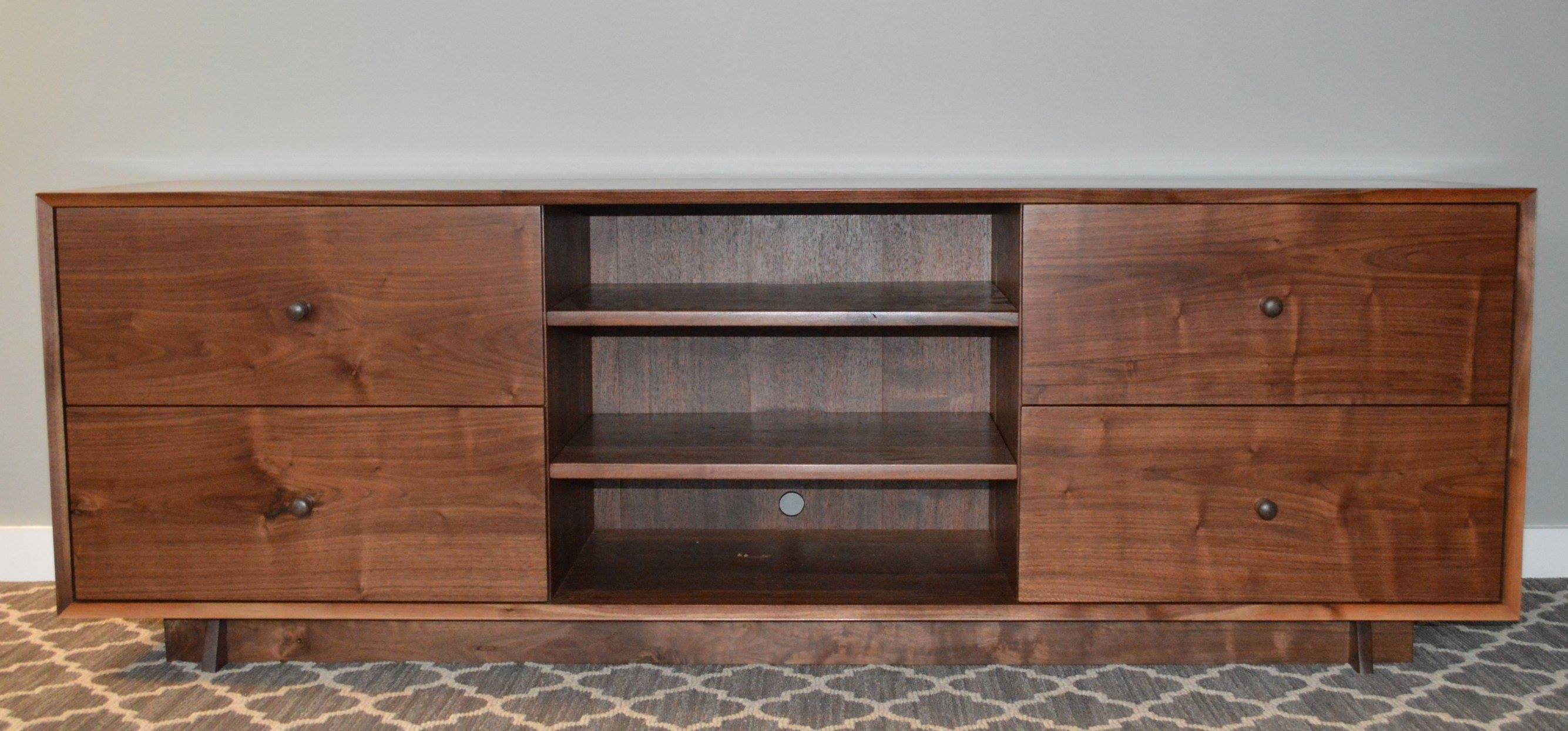 Solid Walnut Media Credenza