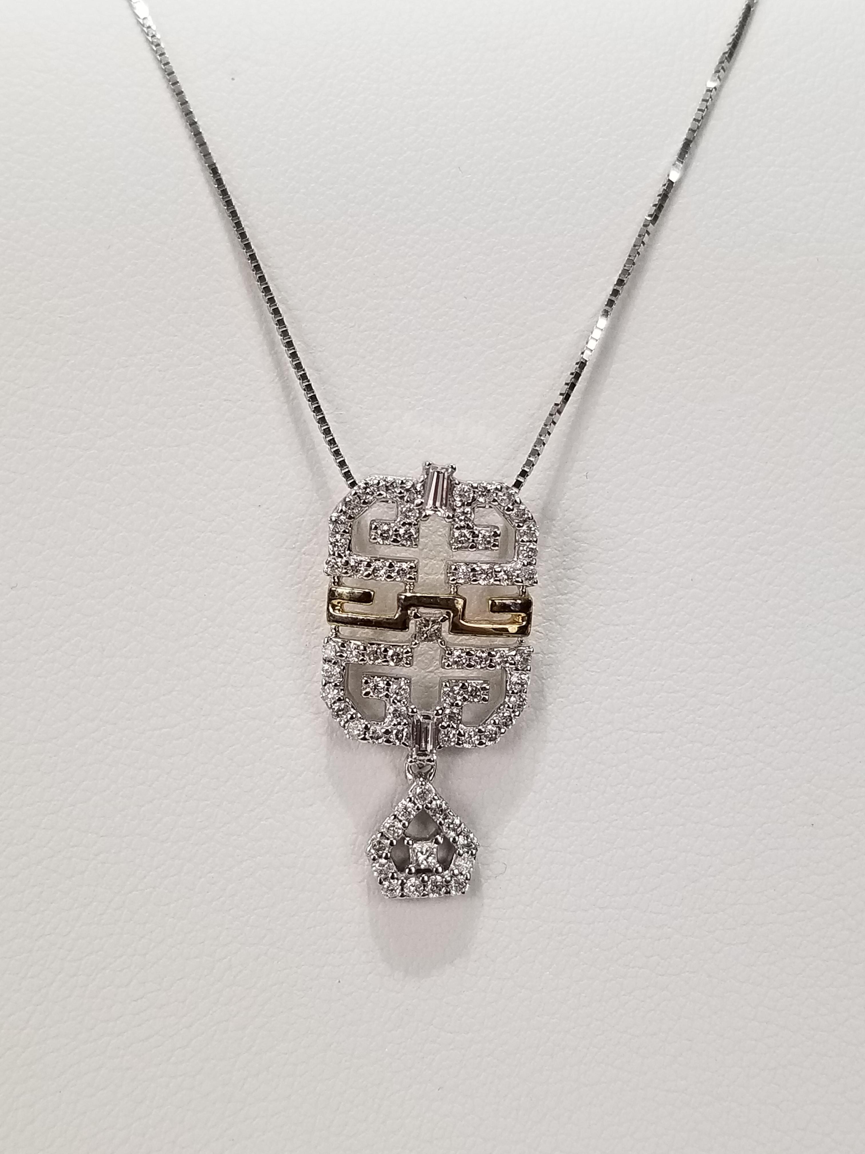 14K White & Yellow Gold Diamonds 0.44ct Regular Price $2495 SALE $695 Ref SR606
