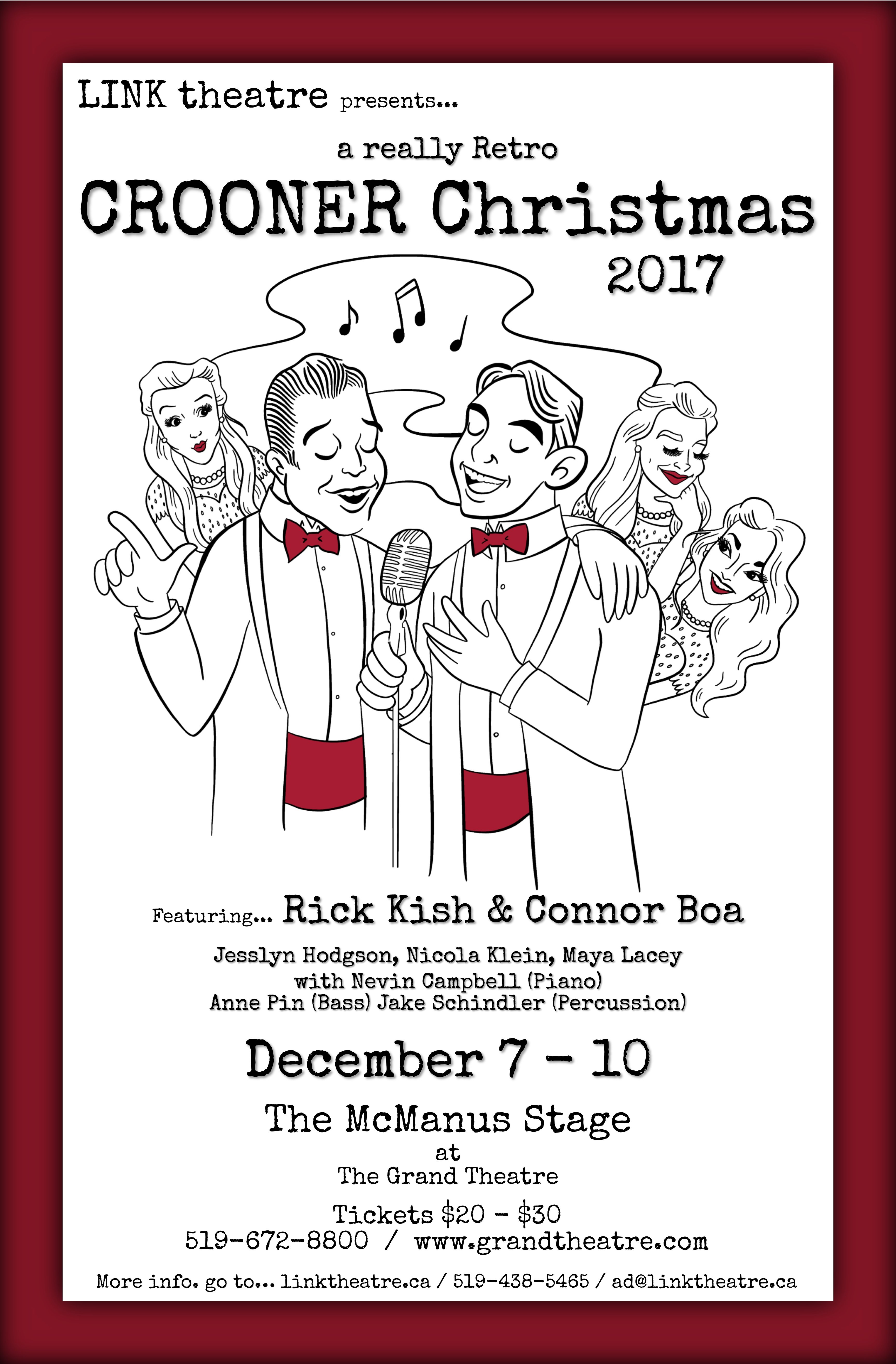 2017 Poster a really Retro CROONER Christmas