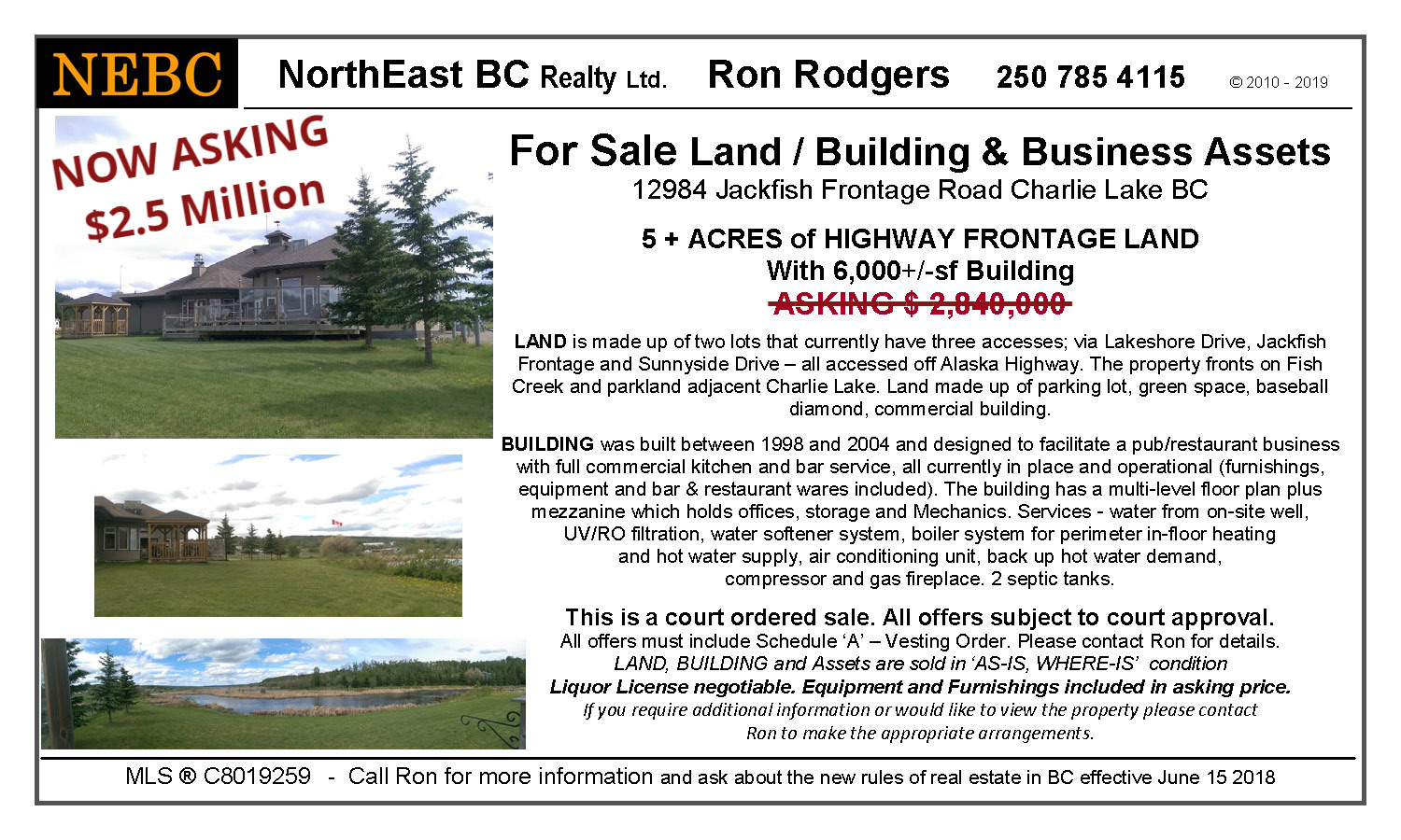 NorthEast BC Realty - Ron Rodgers - FOR SALE