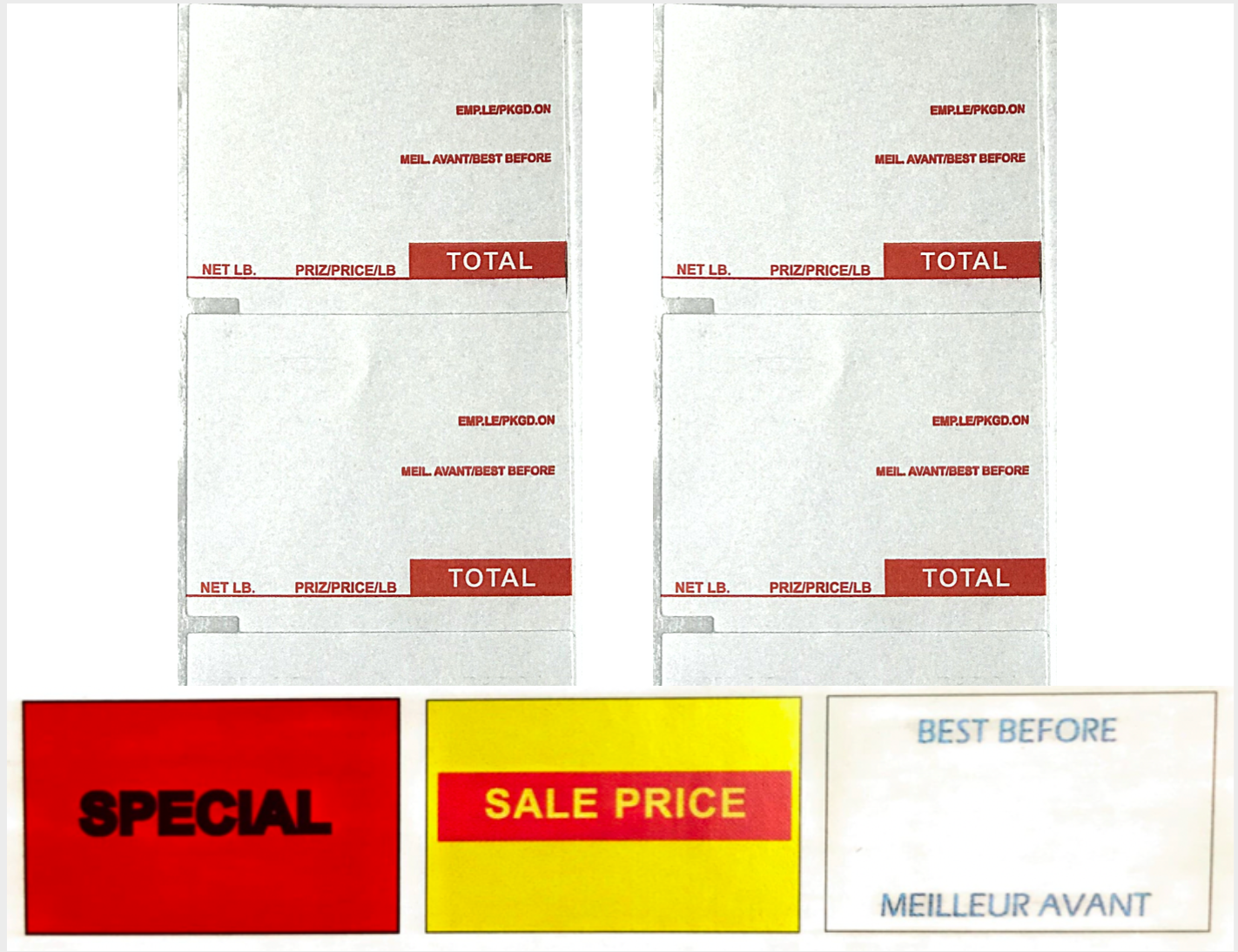 price gun stickers and scale labels