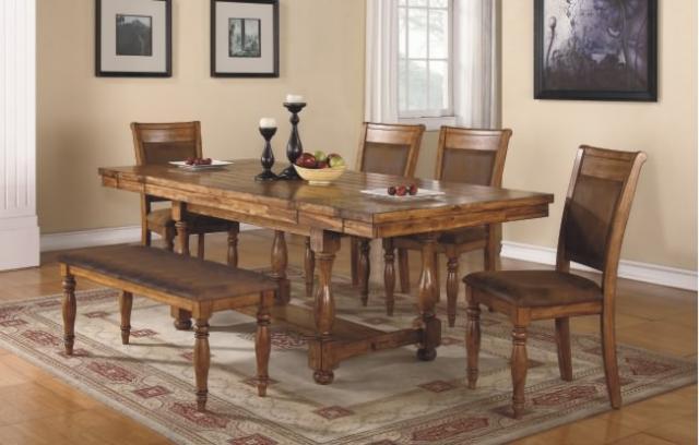 Table et 4 chaises Table 40 x 68 x 80 x 92 Banc 48'' assorti Buffet assorti Fini Rustique