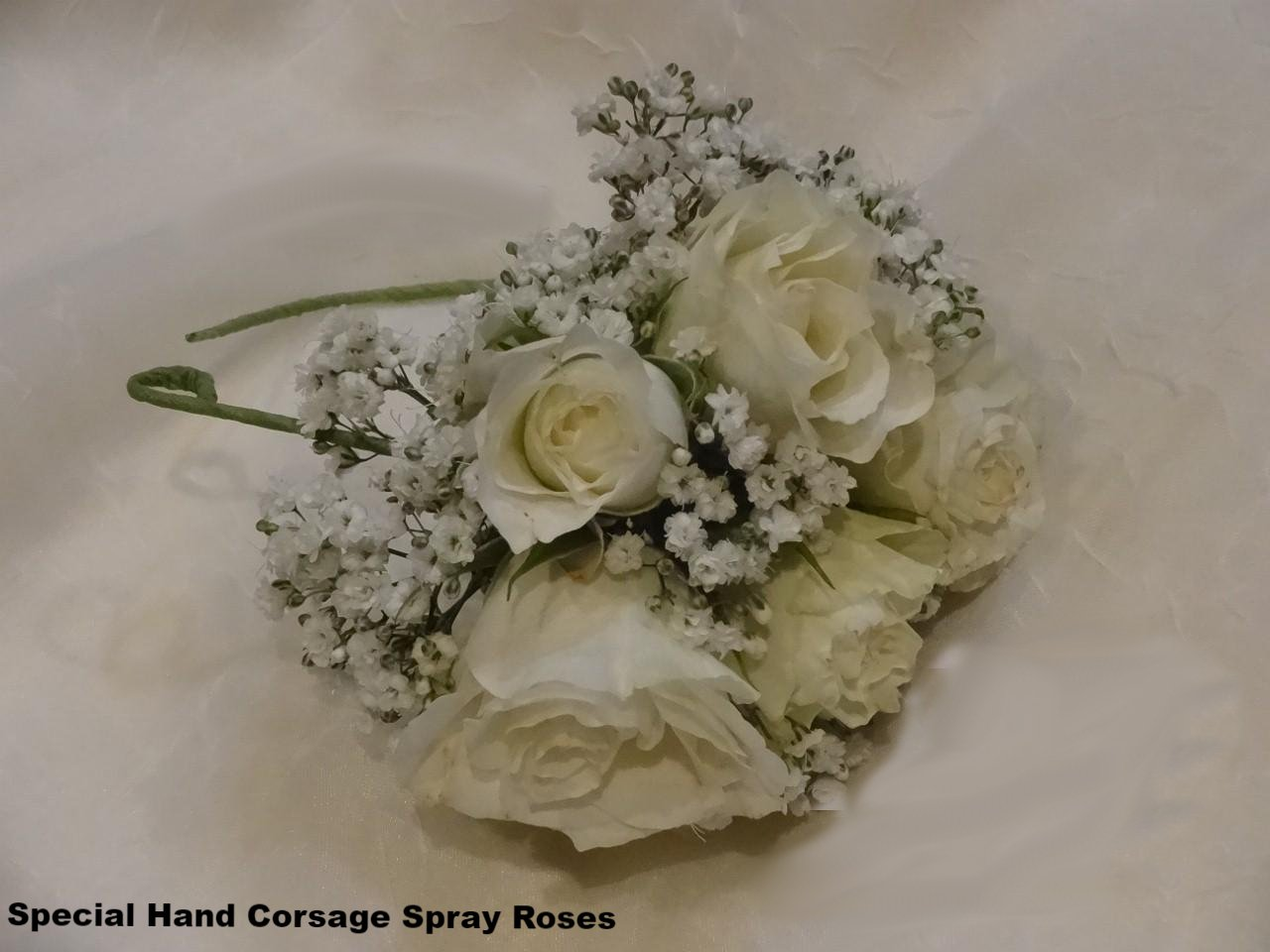 Hand Corsage Special with Spray Roses