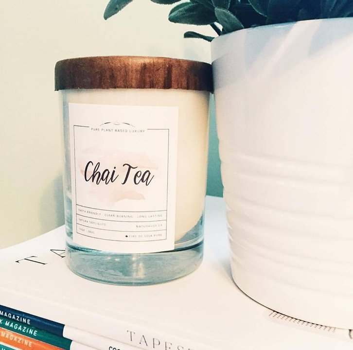 *Available Winter 2021 Chai Tea Cassia, anise seed, sweet chai tea and orange accented by the traditional spicy fragrances of cardamom &  clove, vanilla and caramel.