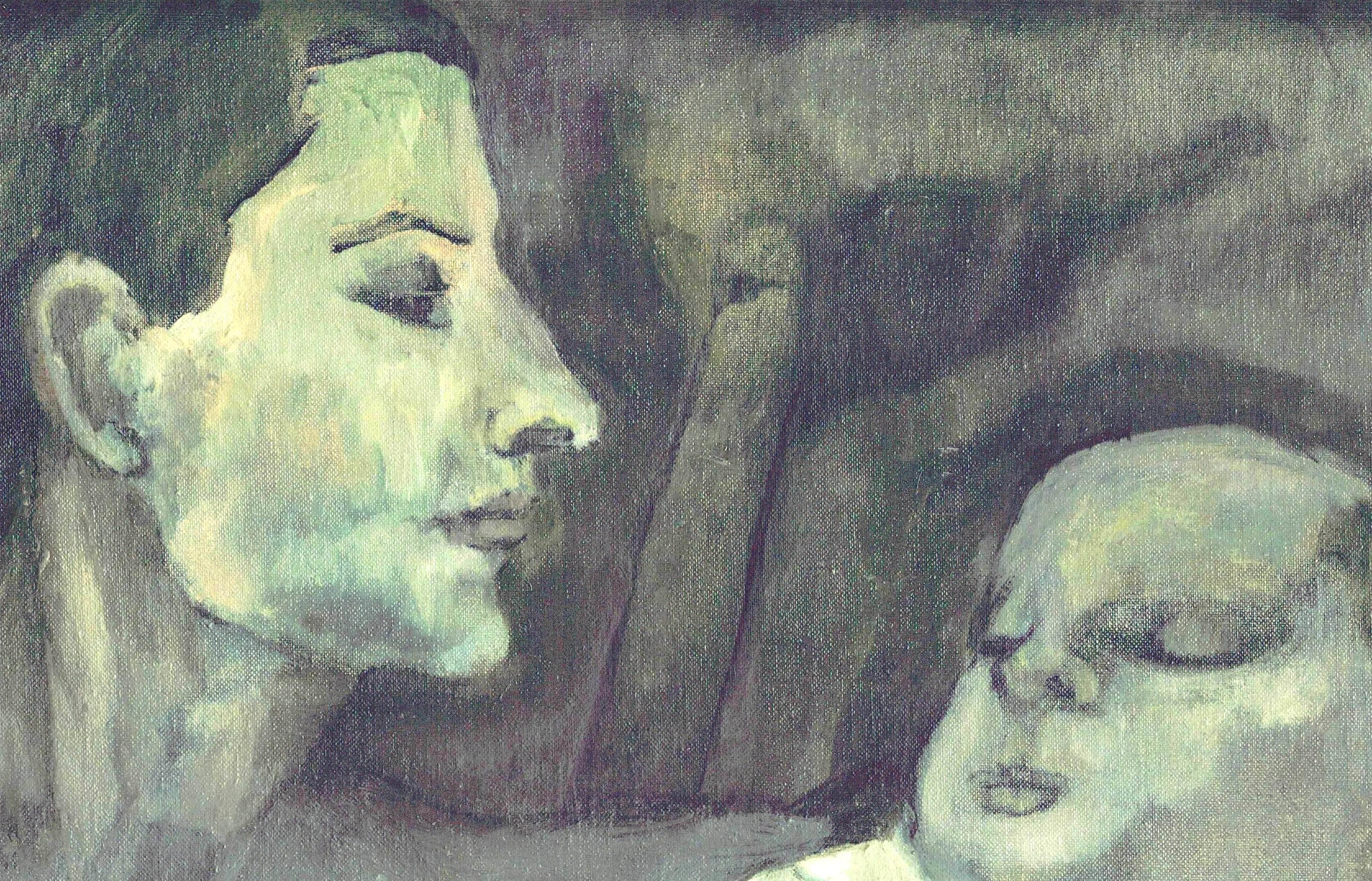 Sigrid Lochner, Nap Time, oil on panel, 1970, 10x12.5cm