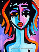 purple girl original painting