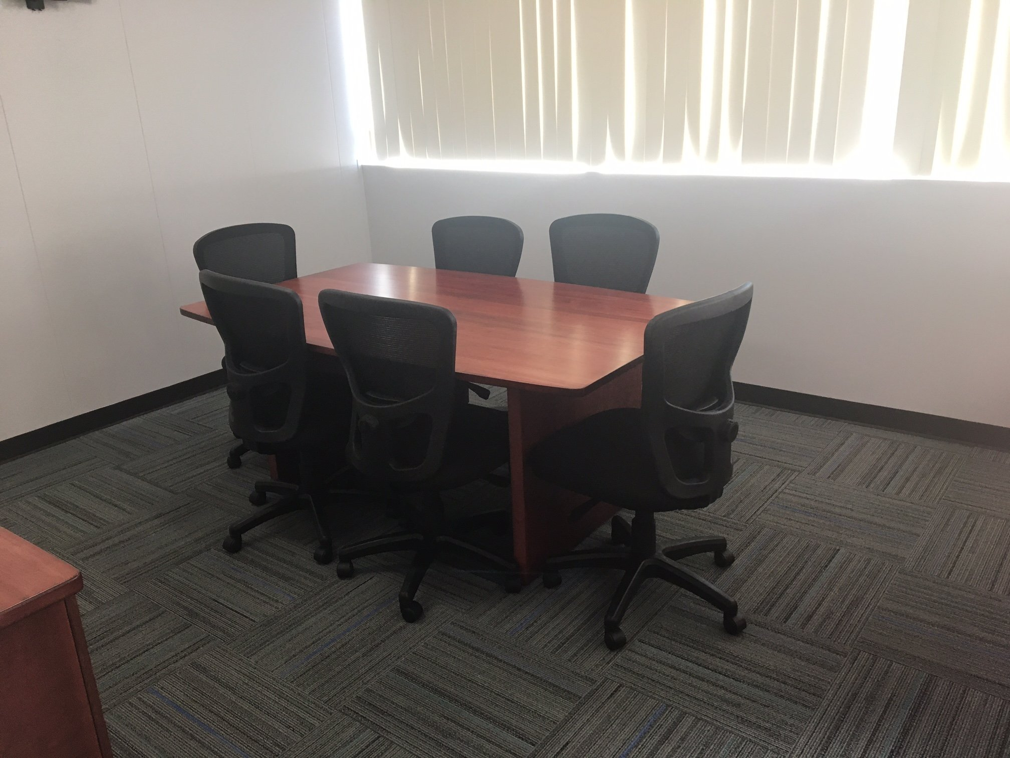 Small Conference Table with Breathe Jr Chairs