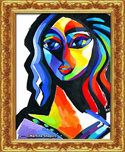abstract original painting of woman by artist martina shapiro