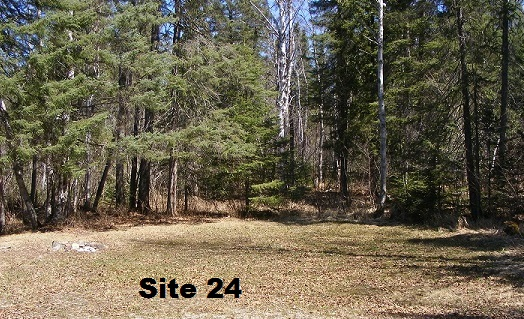 Site 24 - Tent Site 15 Amp is available with extension cord.