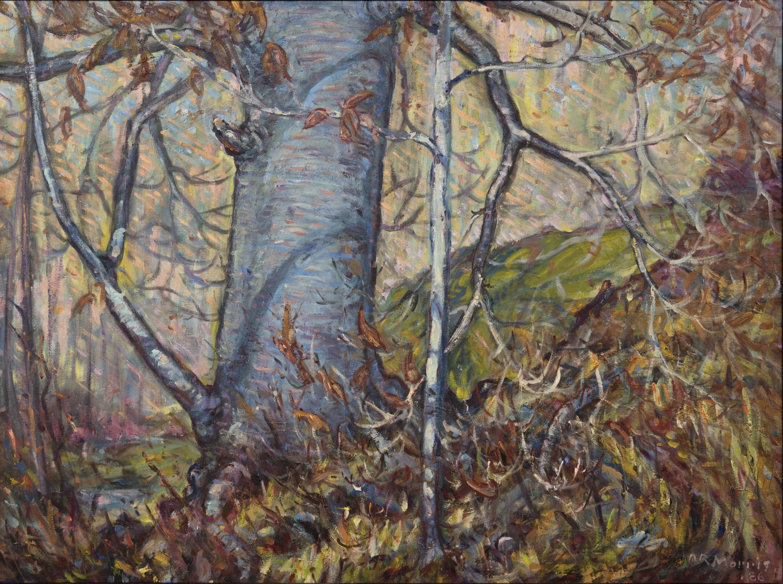 Artist: Arthur Roy Morris, Autumn Beech, 1978, Oil on canvas
