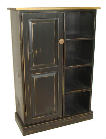 Vintage Black with Classic stain clear coat top