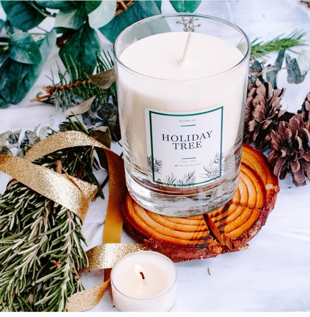 Available December 2021 Holiday Tree Cedar, Canadian Fir and moss blend with subtle citrus.