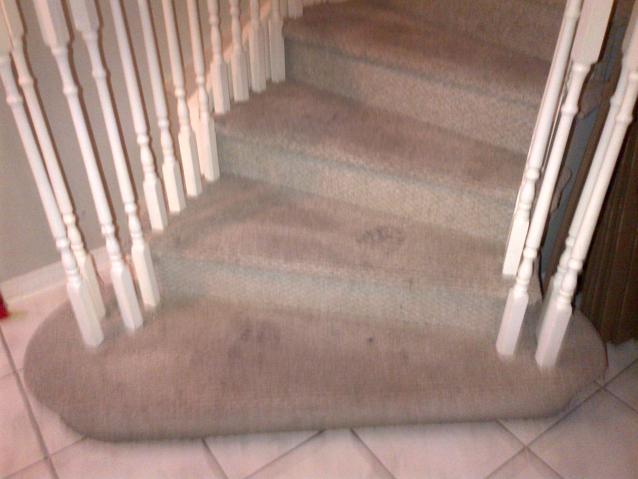 before cleaning stair