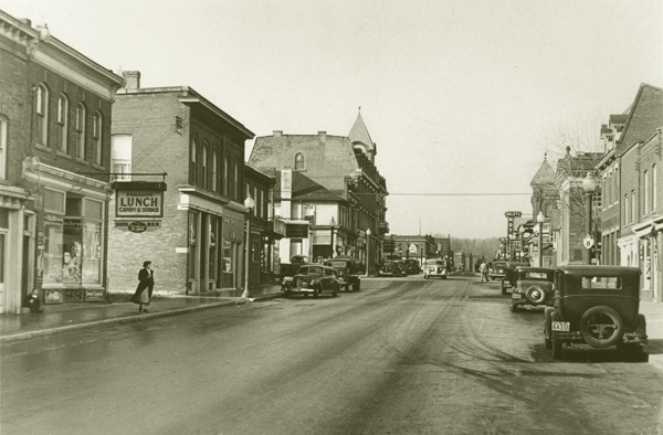 """The Windy Lady"" Downtown Dundas 1941"