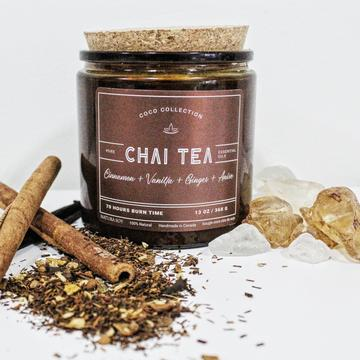 Chai Tea Cassia, Anise Seed, Ginger, Vanilla and Carame.