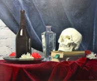 """Still Life with Skoll"" 22"" x 26"" Alkyd on hardboard $ 1900"